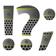 perforated metal question mark