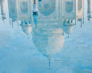 Taj Mahal reflection in water