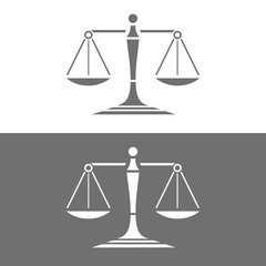 Icono balanza BN