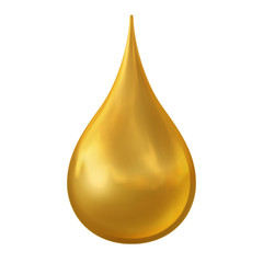 Golden Drop. Clipping path included.