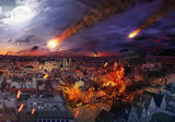 Apocalypse caused by a meteorite