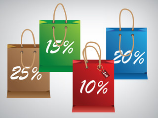 Shopping bags in design more at color,eps10