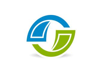 abstract stock exchange logo design vector