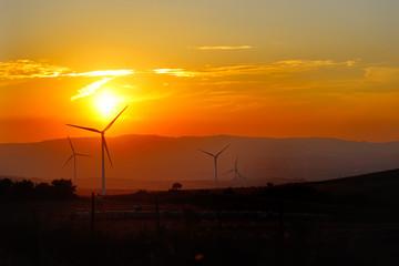 wind generators turbine - ecology energy saving concept