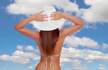 Sexy girl back in bikini