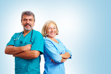 Portrait of confident adult medical doctors