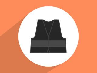 Reflective vest, mandatory use ,Flat design style