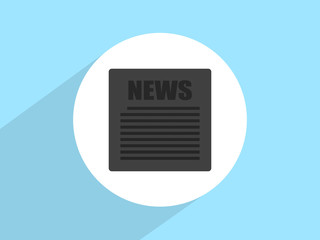 Flat icon of news, Flat design style