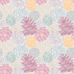 Seamless vector pattern with cones