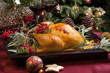 canvas print picture - Christmas Turkey Prepared For Dinner