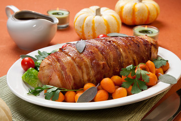 Bacon-wrapped Turkey Breast Roulade