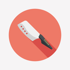 kitchenware knife flat icon with long shadow,eps10