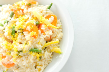 creamy lemon vegetarian risotto