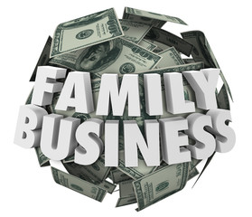 Family Business Words Money Ball Starting Company Relatives