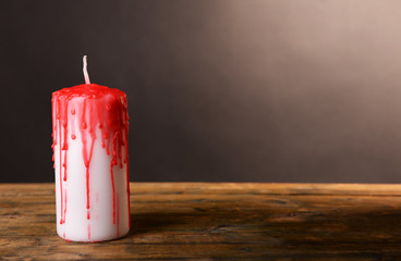 Bloody candle for Halloween holiday,