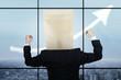 Anonymous entrepreneur and upward arrow