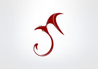 dragon Abstract icon Dragon symbol brand logo