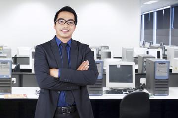Businessman wearing formal wear in office