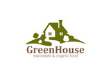 Real Estate House Logo design. Eco Natural Farm