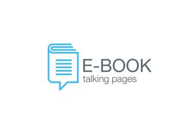 Digital Book Logo design vector. Electronic Library