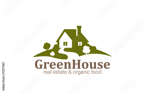Real Estate House Logo design. Eco Natural Farm - 72177067