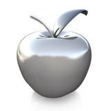 Fototapety silver glass apple