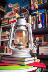 Old lantern in the library series