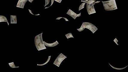 日本円(1万円札)が落ちてくる