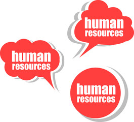human resources . Set of stickers, labels, tags