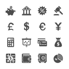 finance and money icon set, vector eps10