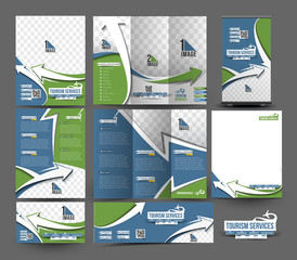 Travel Agent Stationery Set Template