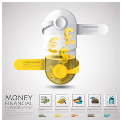 Pill Capsule Money And Financial Business Infographic