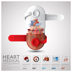 Pill Capsule Heart Health And Medical Infographic