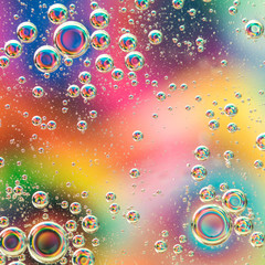 colrful background with bubbles
