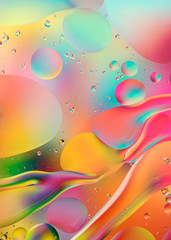 psychedelic background with oil and water