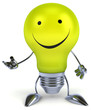 canvas print picture - Fun light bulb