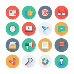Pixel perfect digital marketing flat icons
