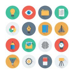 Pixel perfect creative development flat icons