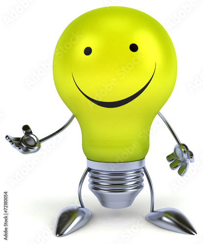 canvas print picture Fun light bulb