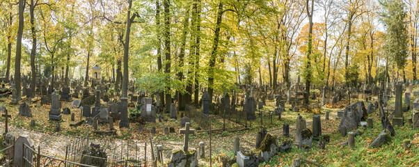 panoramic view of the cemetery