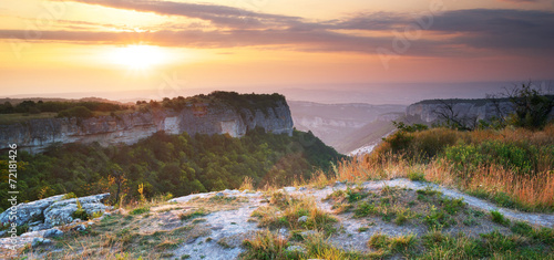 Poster Heuvel Mountain landscape
