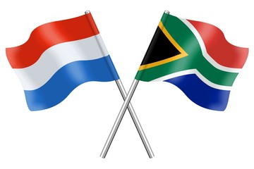 Flags: Luxembourg and South Africa