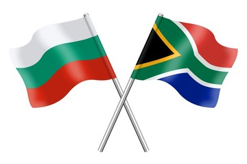 Flags: Bulgaria and South Africa