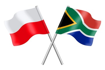 Flags: Poland and South Africa