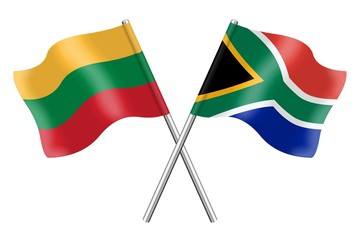 Flags: Lithuania and South Africa