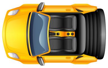 A yellow sportscar