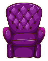 A simple coloured drawing of a chair