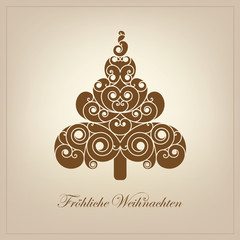 Weihnachtsbaum, abstrakt, Christbaum, Tannenbaum, Tanne, Tree