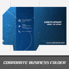 Corporate business folder or document folder template