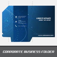 Corporate business folder or document folder template